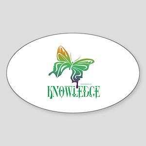 KNOWLEDGE Oval Sticker