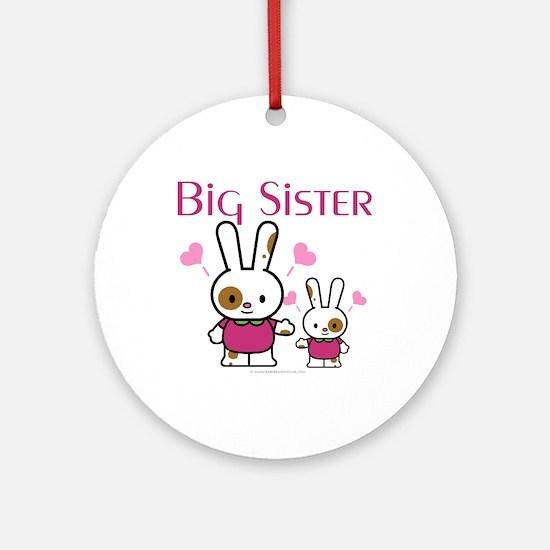 Bunnies Big Sister Ornament (Round)