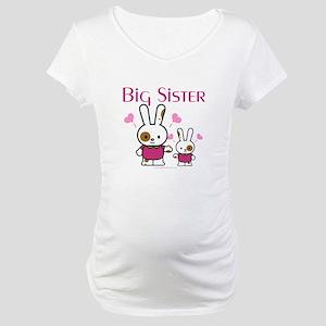 Bunnies Big Sister Maternity T-Shirt