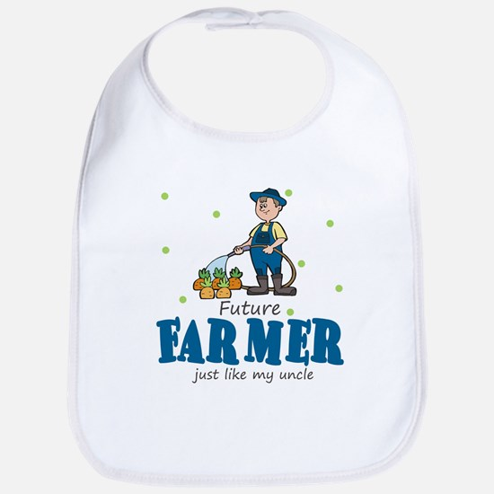 Future Farmer Like Uncle Baby Infant Toddler Bib