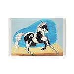 Running Paint Horse Rectangle Magnet (10 pack)