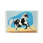 Running Paint Horse Rectangle Magnet