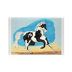 Running Paint Horse Rectangle Magnet