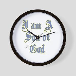 I AM A SON OF GOD Wall Clock