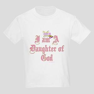 I AM A DAUGHTER OF GOD Kids Light T-Shirt
