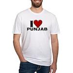I Love Punjab Fitted T-Shirt