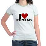 I Love Punjab Jr. Ringer T-Shirt