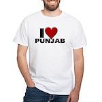 I Love Punjab White T-Shirt