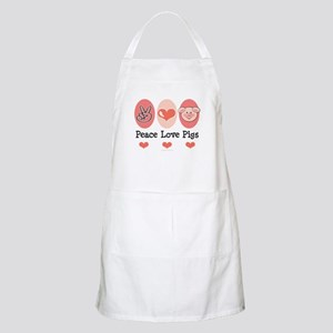 Peace Love Pigs BBQ Apron