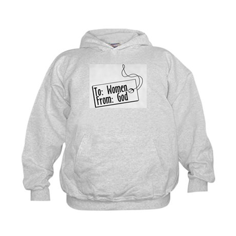 To Women, From God Kids Hoodie