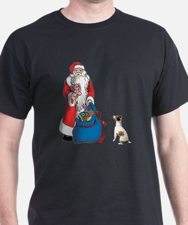 JACK RUSSELL TERRIER AND SANT T-Shirt