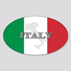 Italian Flag Extra Oval Sticker