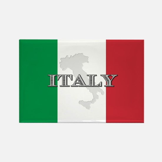Italian Flag Extra Rectangle Magnet