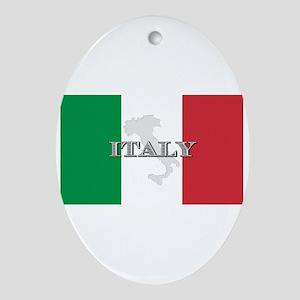 Italian Flag Extra Oval Ornament