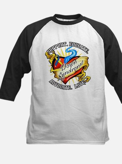 Down Syndrome Heart Kids Baseball Jersey