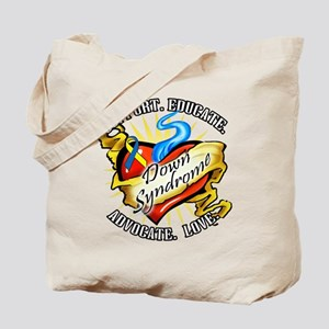 Down Syndrome Heart Tote Bag