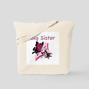 Butterflies Big Sister Tote Bag