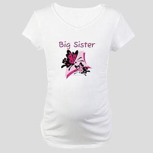 Butterflies Big Sister Maternity T-Shirt