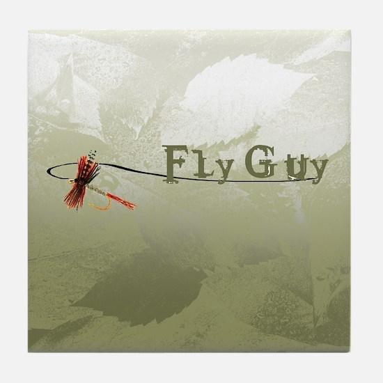 Fly Fishing Guy Tile Coaster