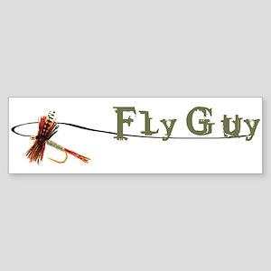 Fly Fishing Guy Bumper Sticker