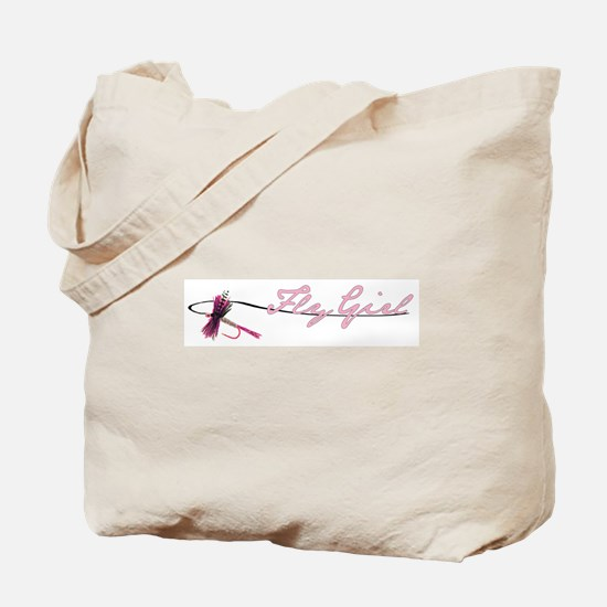Fly Fishing Girl Tote Bag