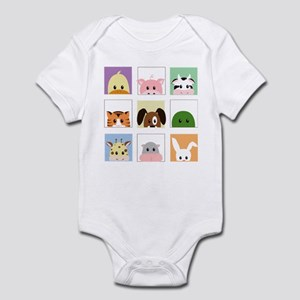 animal squares Infant Bodysuit