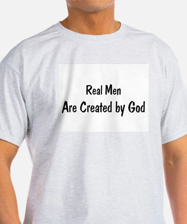 Unique In the begining man created god T-Shirt