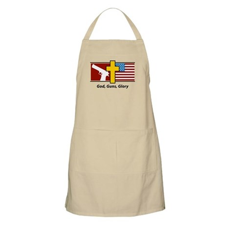 God Guns Glory BBQ Apron