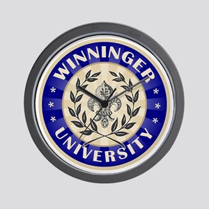 Winninger Family Name University Wall Clock