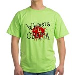 Whiners for Barack Obama Green T-Shirt