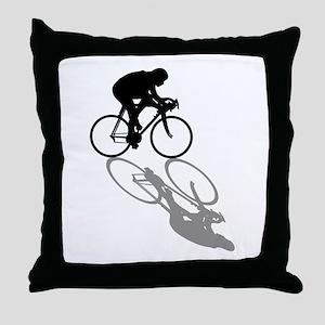 Cycling Bike Throw Pillow