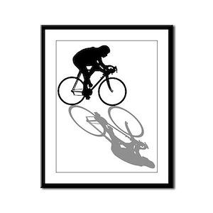Cycling Bike Framed Panel Print