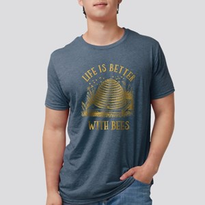 Life's Better With Bees Mens Tri-Blend T-Shirt