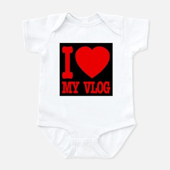 I Love My Vlog Infant Bodysuit