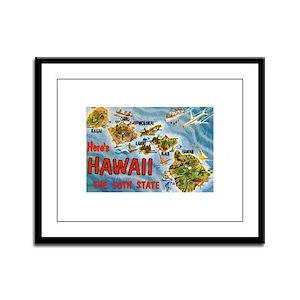 Hawaii HI Framed Panel Print