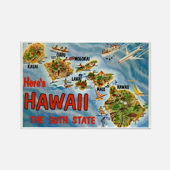 Hawaii HI Rectangle Magnet