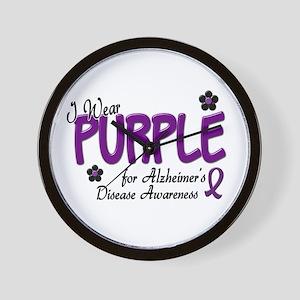 I Wear Purple 14 (Alzheimers Awareness) Wall Clock