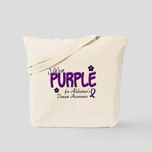 I Wear Purple 14 (Alzheimers Awareness) Tote Bag