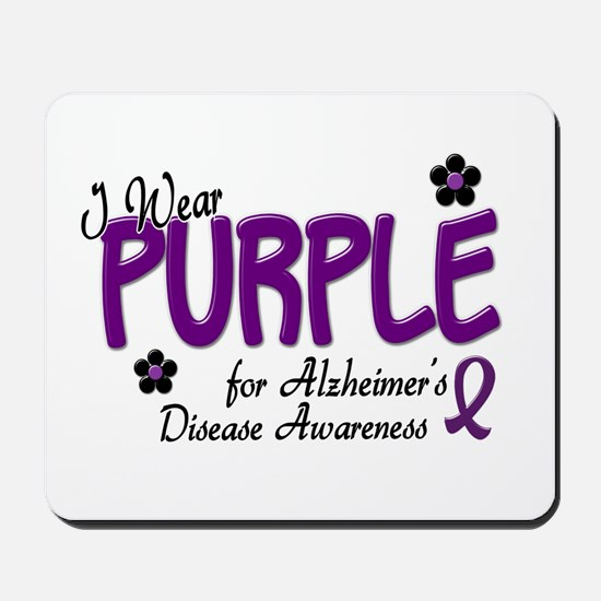 I Wear Purple 14 (Alzheimers Awareness) Mousepad