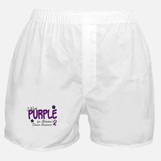 I Wear Purple 14 (Alzheimers Awareness) Boxer Shor