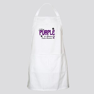 I Wear Purple 14 (Alzheimers Awareness) BBQ Apron