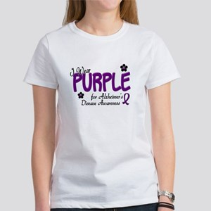 I Wear Purple 14 (Alzheimers Awareness) Women's T-