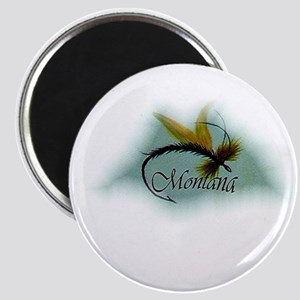 """Montana fly fishing magnet 2.25"""" Magnet (10 p"""
