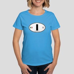 Italy Euro Oval Women's Dark T-Shirt