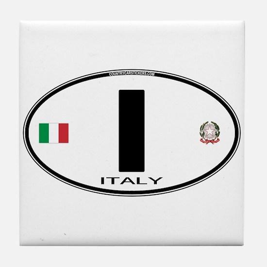 Italy Euro Oval Tile Coaster
