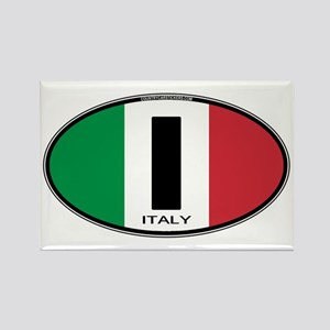 Italy Oval Colors Rectangle Magnet