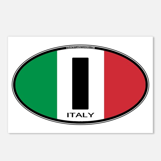 Italy Oval Colors Postcards (Package of 8)