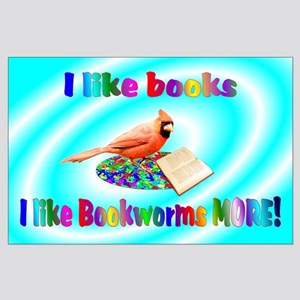 Cardinal Bookworm Large Poster