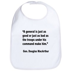 MacArthur General and Troops Quote Bib