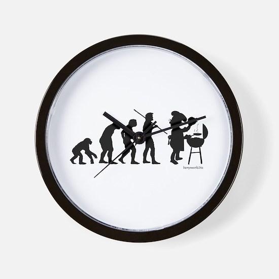 Barbecue Evolution Wall Clock